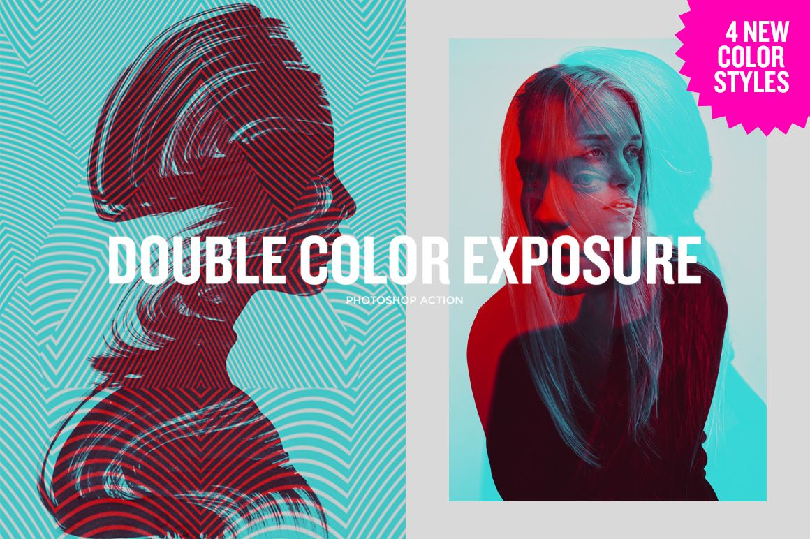 Double Color Exposure by blackpattern on @creativemarket