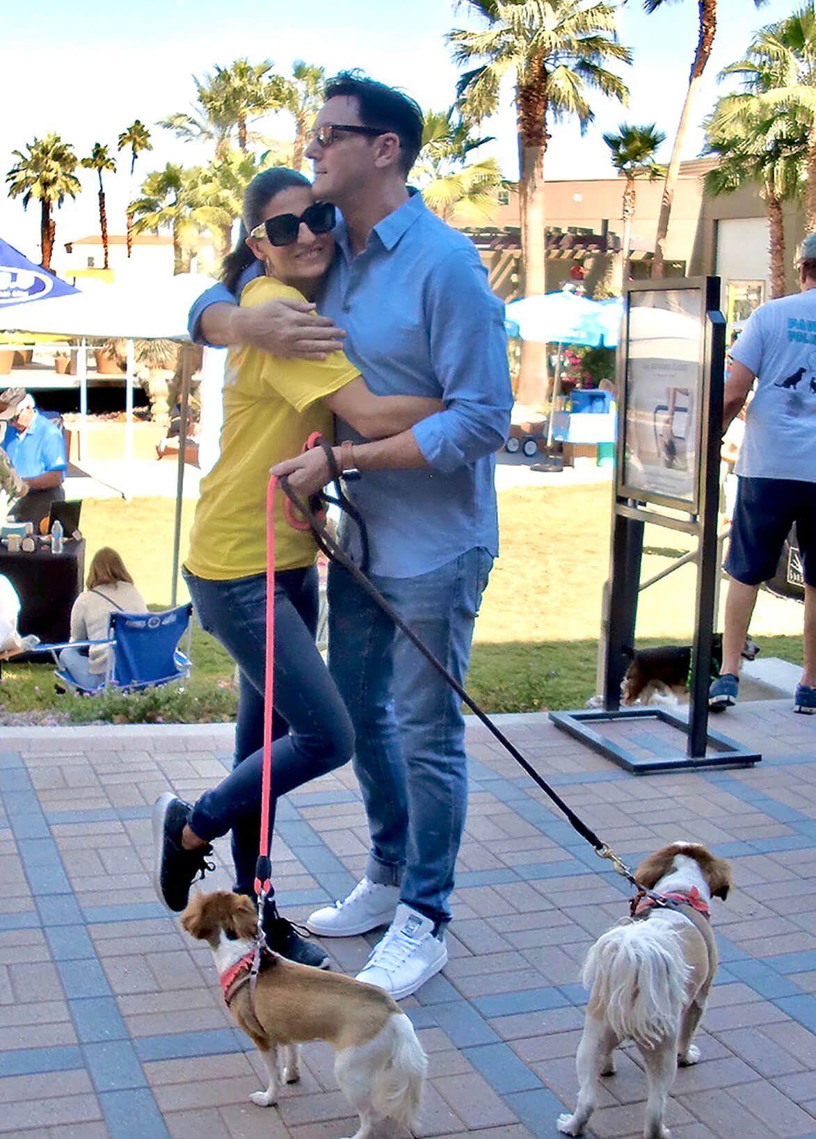 Sean Borg Attends Bianca Rae S Successful Pet Adoption Event In Palm Desert California Pet Adoption Event Pet Adoption She Dog