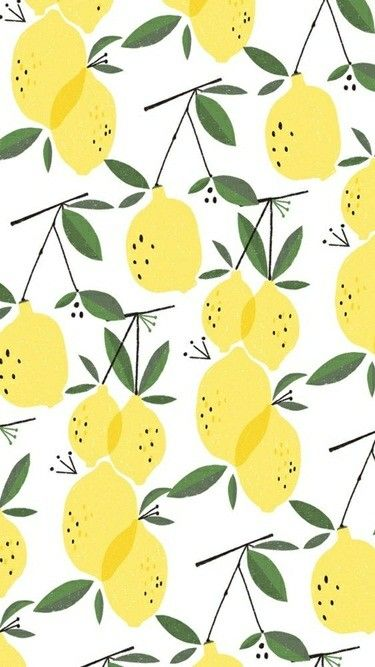Cute And Quirky Credit To Artist Wallpaper Iphone Summer Fruit Wallpaper Lemon Patterns