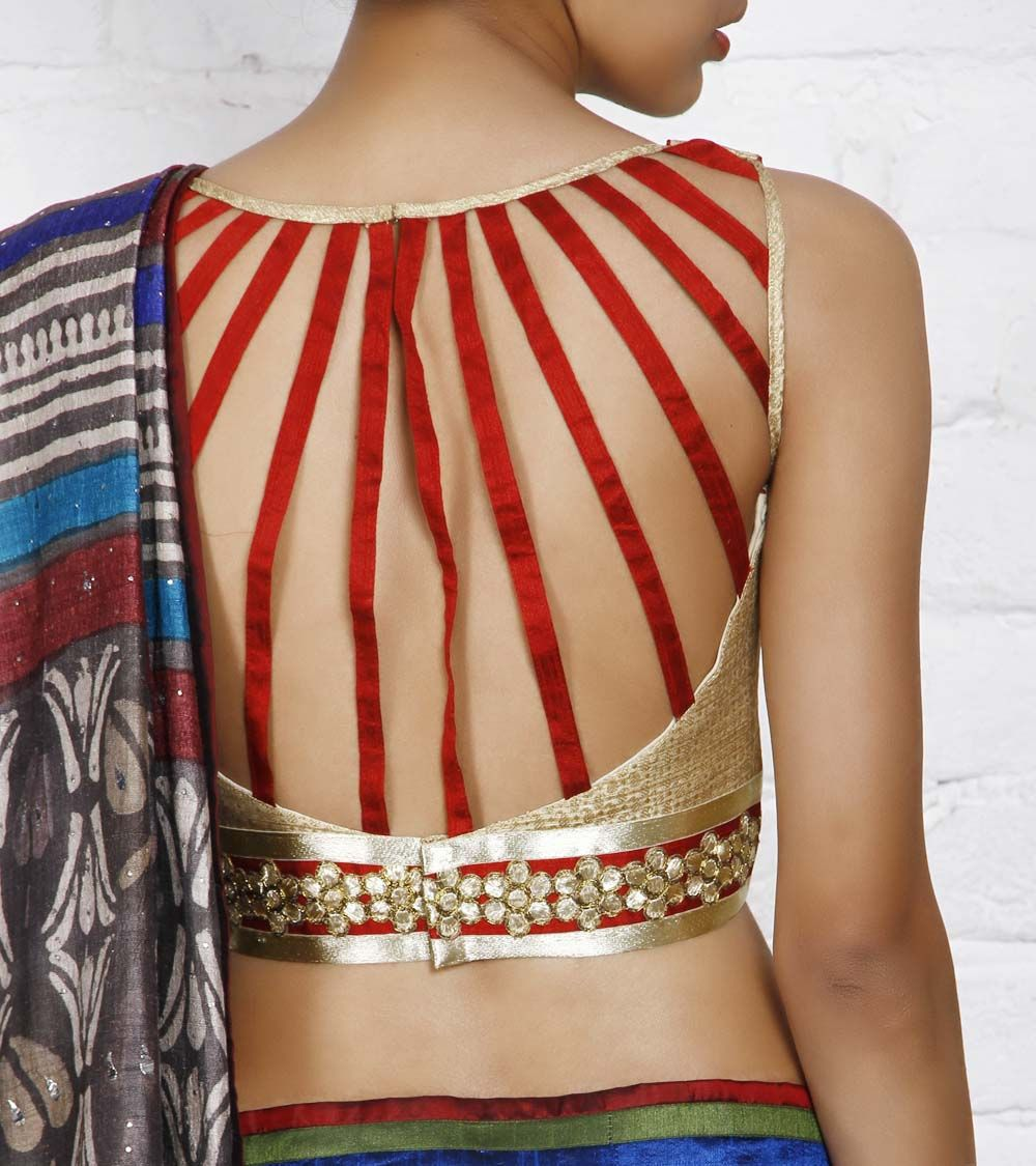 Beige golden brocade blouse blouse designs blouse designs for sarees - Golden Brocade Blouse