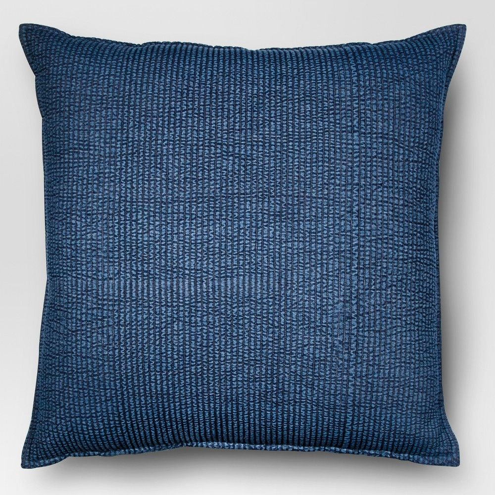 Chambray Oversize Square Throw Pillow