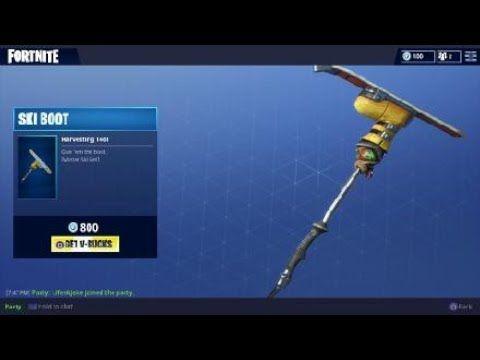 Fortnite Ski Boot Pickaxe Skin / New Harvesting Tool -- Fortnite Battle  Royale Video Game