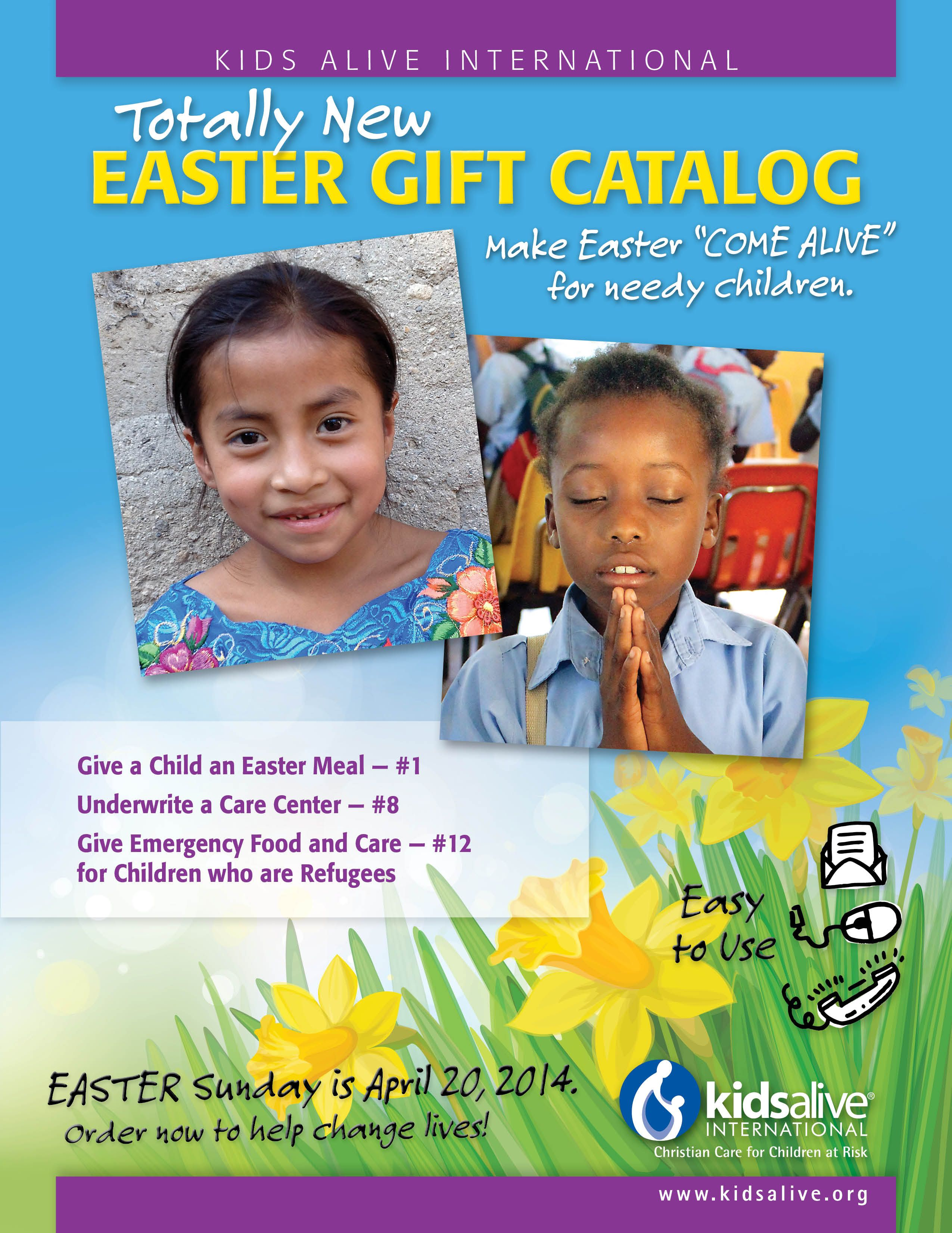 Easter gift catalog rethink easter gifts kids alive easter gift catalog rethink easter gifts negle Image collections
