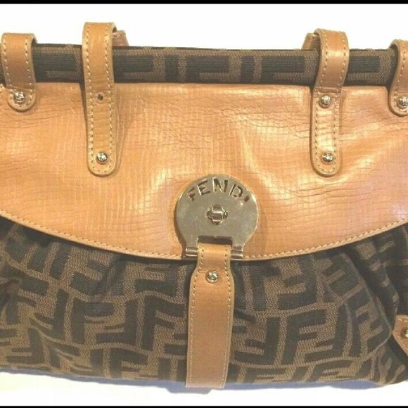 a57a743eb736 ... Authentic Fendi Zucca Magic Bag Authentic Fendi Zucca Magic Bag Pre- owned Excellent Condition Very ...