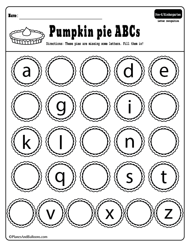 Free printable ABC kindergarten activities for the holiday ...