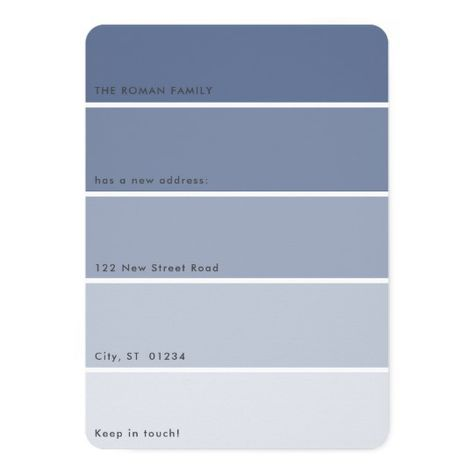 Fresh Paint Moving Announcement Blue Paint Chip