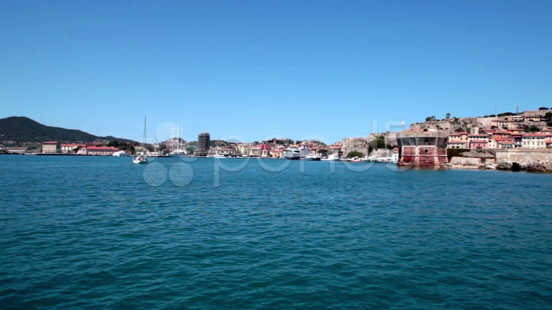 Sailing To Portoferraio, Elba Island - Stock Footage | by eZeePicsStudio