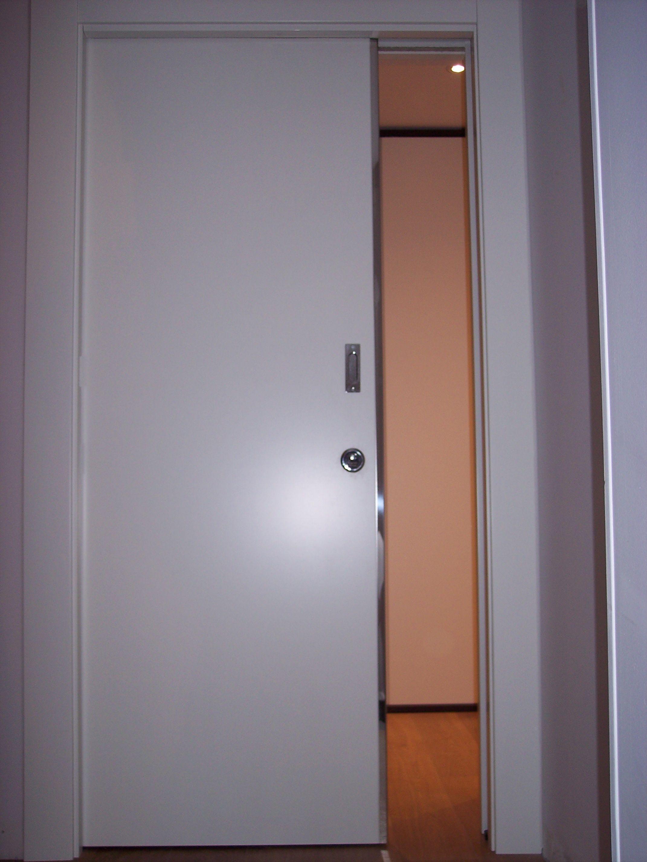 EASYSEC - Porta scorrevole blindata manuale - interno muro ...