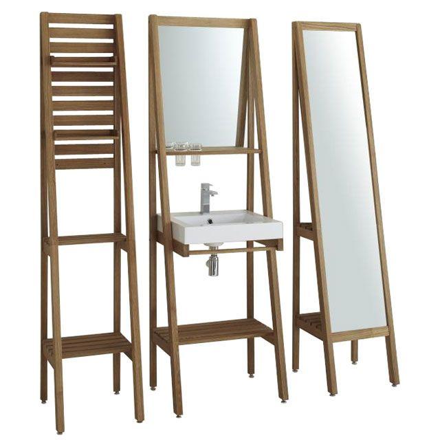 Meuble/étagère sous-vasque Epure - CASTORAMA | Meuble étagère, Meuble salle de bain et Meuble