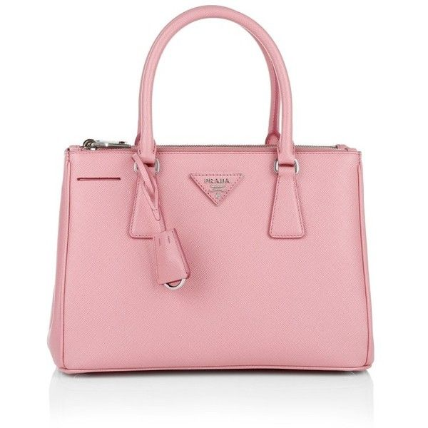 Prada Handle Bag - Galleria Saffiano Tote Petalo - in rose - Handle... (€1.680) ❤ liked on Polyvore featuring bags, handbags, tote bags, rose, leather tote bags, leather key ring, prada handbags, leather tote and detachable key ring