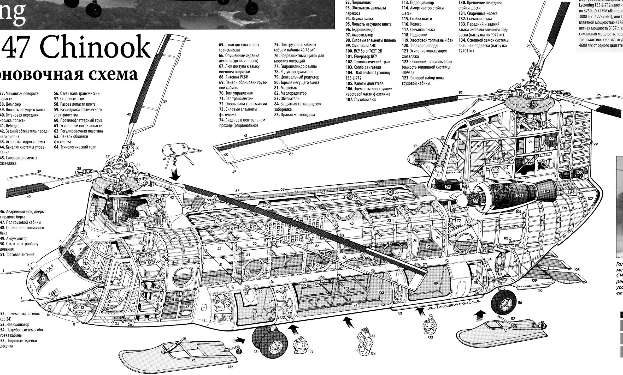 aircarft cutaway boeing ch 47 chinook chinook helicopters attack helicopter military helicopter  [ 2386 x 1438 Pixel ]