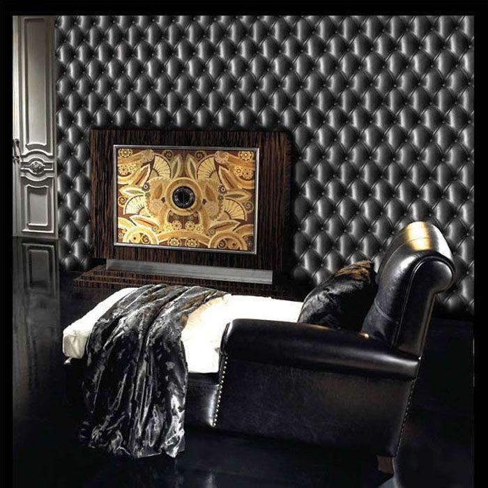 Best Rustic Retro Vinyl Leatherette 3D Wallpaper Wp137 Living 400 x 300