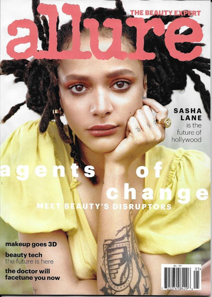 Allure magazine Sasha Lane 3D makeup Beauty tech Women
