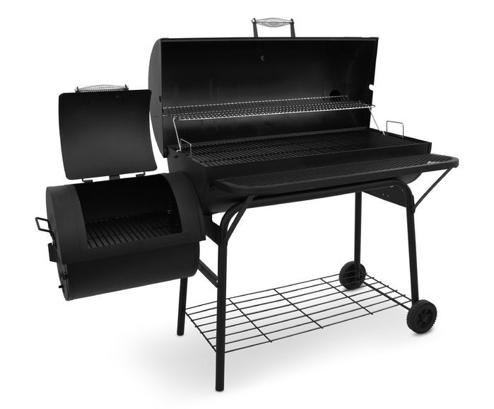 Napoleon Holzkohlegrill Charcoal : American gourmet deluxe offset charcoal grill smoker outdoor