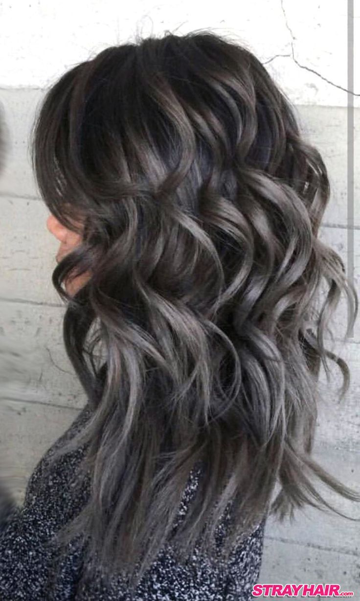 Thick Waves Of Gunmetal Gray Hair Color Grey Hair Color Hair Styles Dark Grey Hair Color