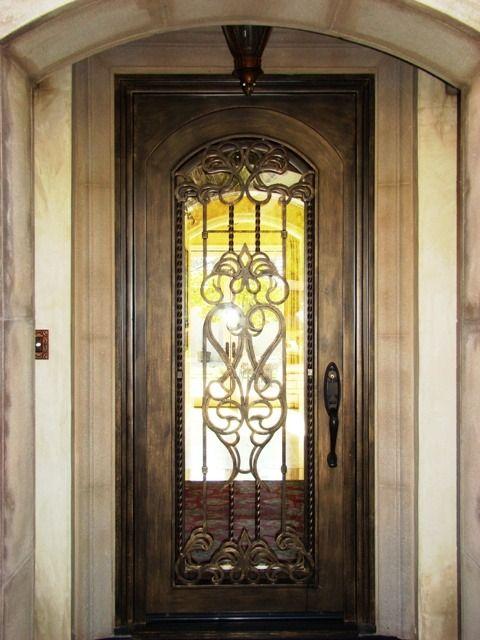 Single Wrought Iron Tuscan Doors Wrought Iron Doors Monterrey