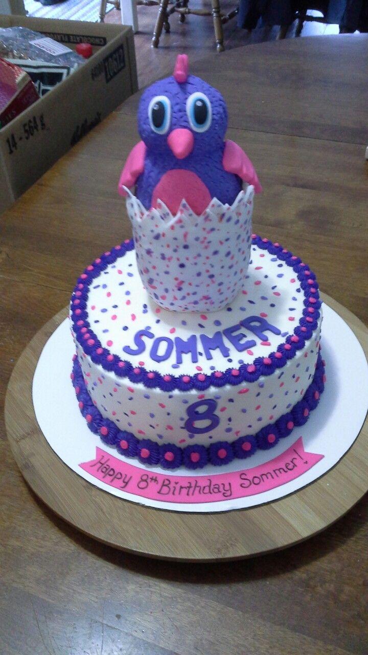 Hatchimal cake Birthday cake kids, Baby birthday party
