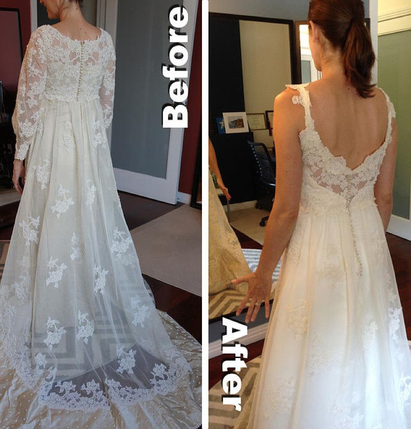 Transcend Decades And Off The Rack Dresses With Mischelle Jillene S Custom Gowns Wedding Gown Alterations Repurpose Wedding Dress Wedding Dress Restoration