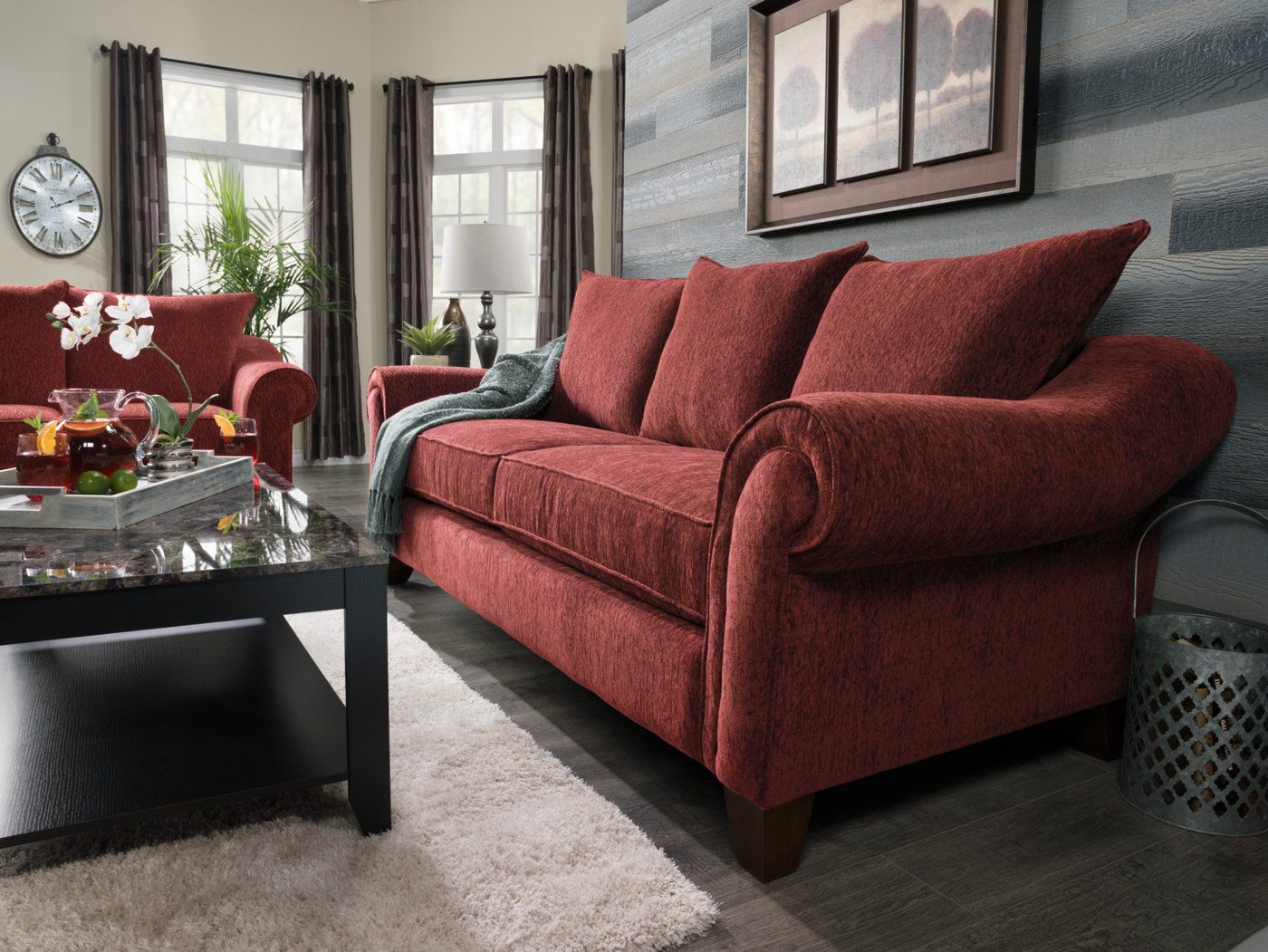 Reese Chenille Sofa - Red | Red sofa, Sofa, Sofa bed