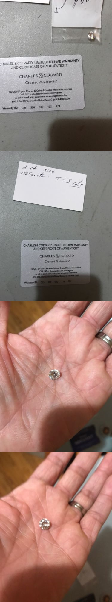 Synthetic Moissanite 110800: Forever One 8Mm (2Ct) Loose Round Moissanite Created By Charles And Colvard -> BUY IT NOW ONLY: $499.0 on eBay!