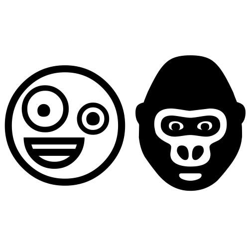 Emoji Domain Is Available Gorilla Zany Face Emoji Emoji Characters Gorilla