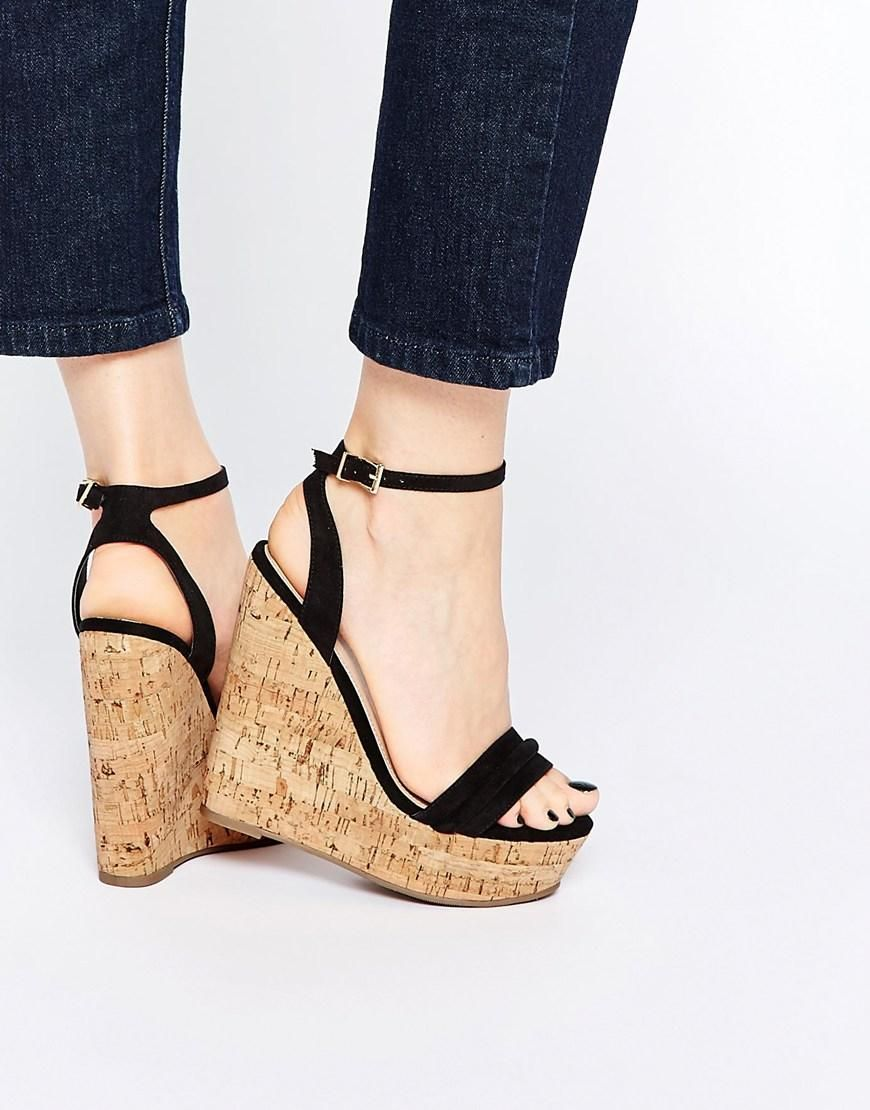ASOS Shoes Women ASOS TIME FLIES Two Part Wedges