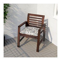 Applaro Chaise Avec Accoudoirs Exterieur Teinte Brun Coussin Chaise Chaise Accoudoir Chaise