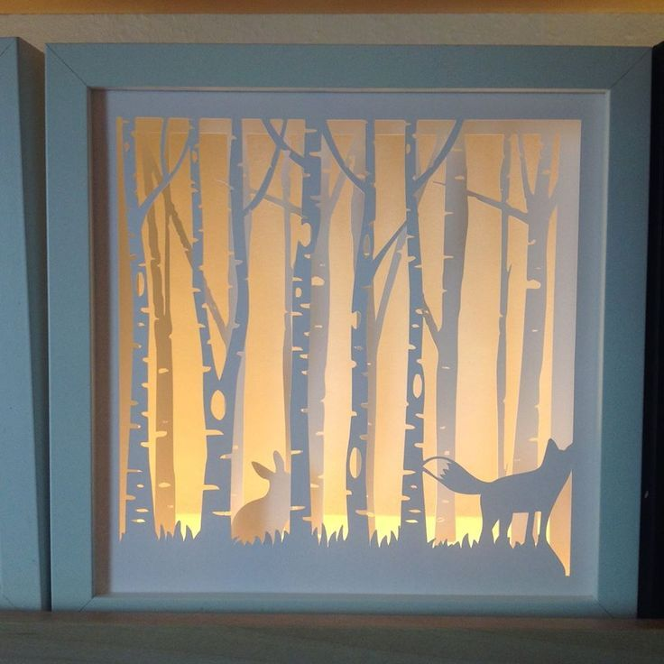 Lit Shadow Bow Forest Diy Shadow Box Shadow Box Paper Art
