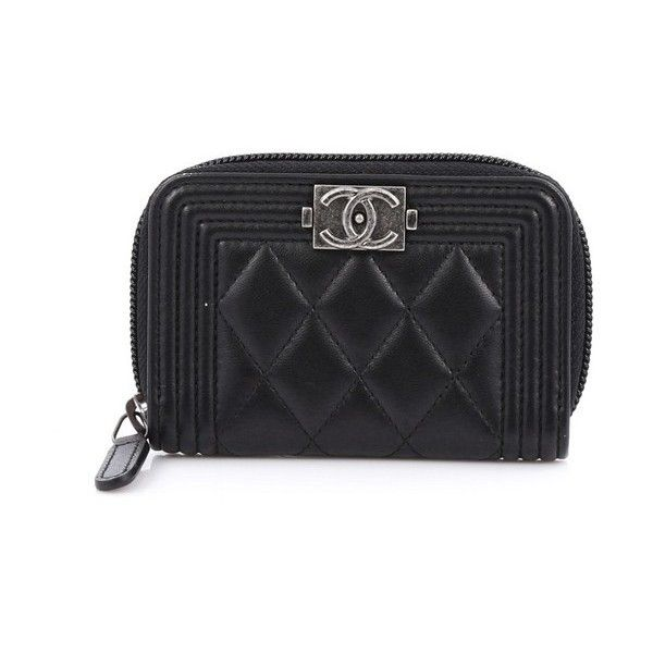 4a8f22e03b9c Pre-Owned Chanel Boy Coin Purse Quilted Lambskin Small (25,000 PHP) ❤ liked