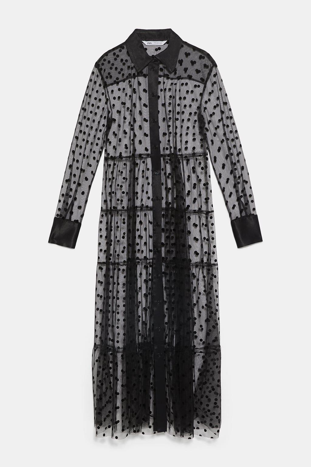 39 99 Image 9 Of Polka Dot Tulle Dress From Zara Gaya Model Pakaian Gaya Berpakaian Model Baju Wanita
