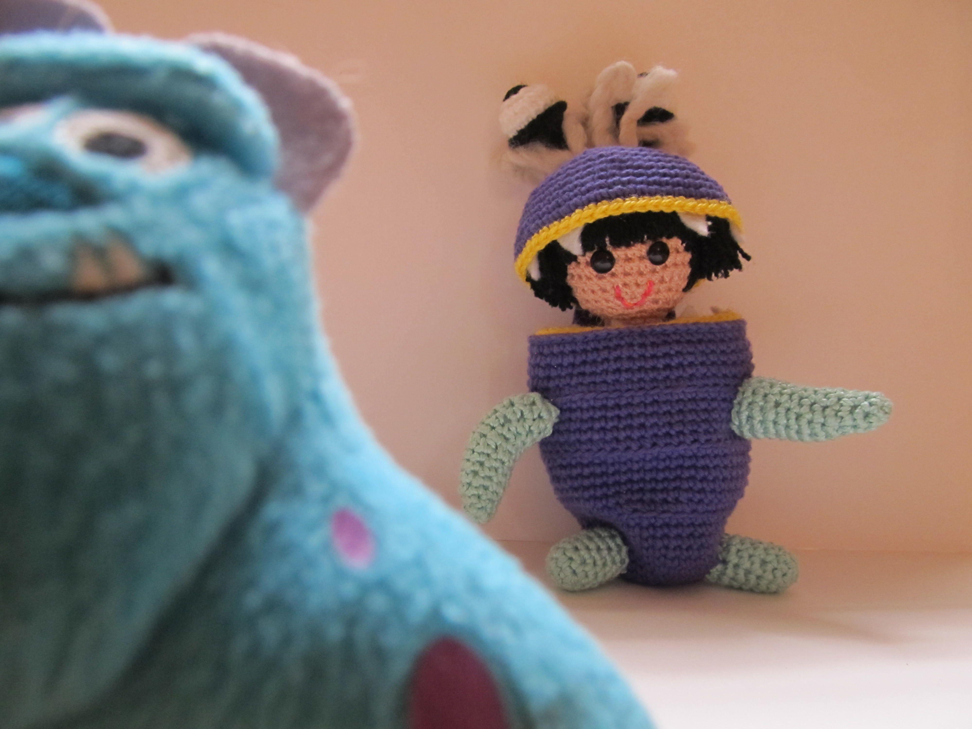 Amigurumis Personajes De Disney : Handmade monsters inc s boo amigurumi original pattern from