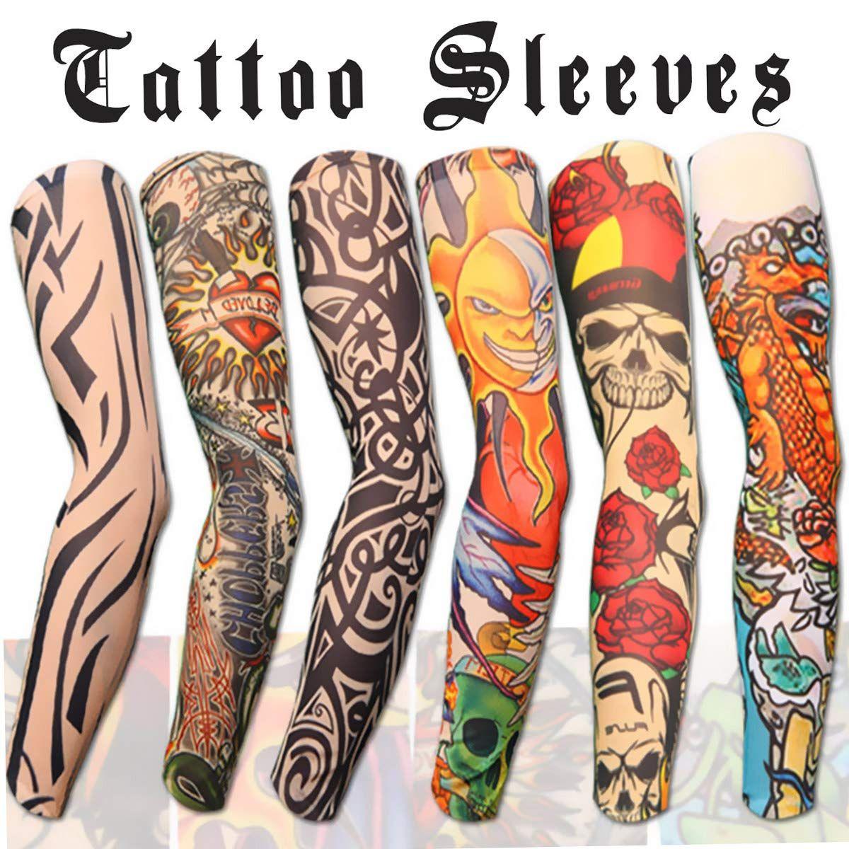Akstore 6pcs Set Arts Fake Temporary Tattoo Arm Sunscreen