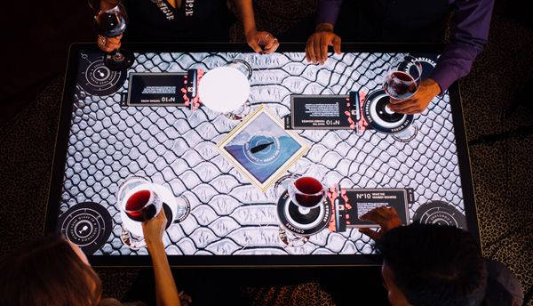 "A touch table, high-tech digital tasting device that acts as a virtual ""host""? Count us in! #wine #winecountry #napavalley #travel #jcb"