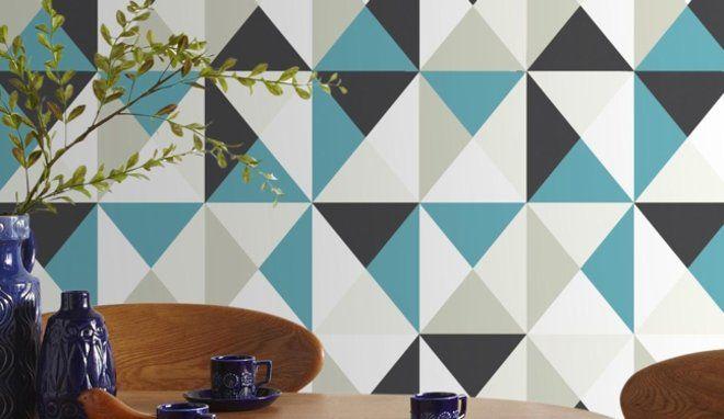 1000 images about papier peint geometrique on pinterest geometric designs design and hexagons - Papier Peint Bleu Geometrique