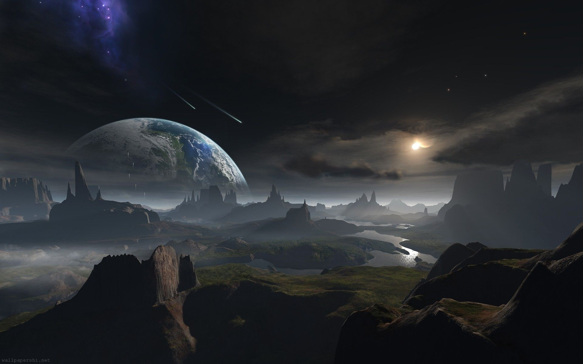 Fantasy Landscape Space Pictures 5 Hd Wallpapers Animg Com Fantasy Landscape Space Art Fantasy Art