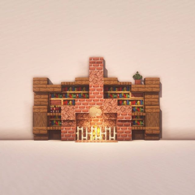 "Goldrobin - Minecraft Builder on Instagram: ""Here are a few fireplace designs!"