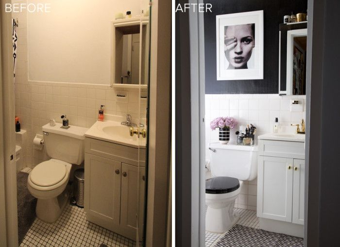 Bathroom Makeovers Under $500 a stylish rental bathroom upgrade for under $500! … | pinteres…