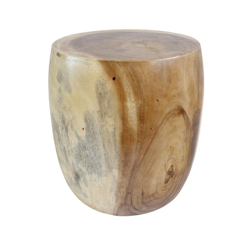 Acacia Two-Tone Wood Stool