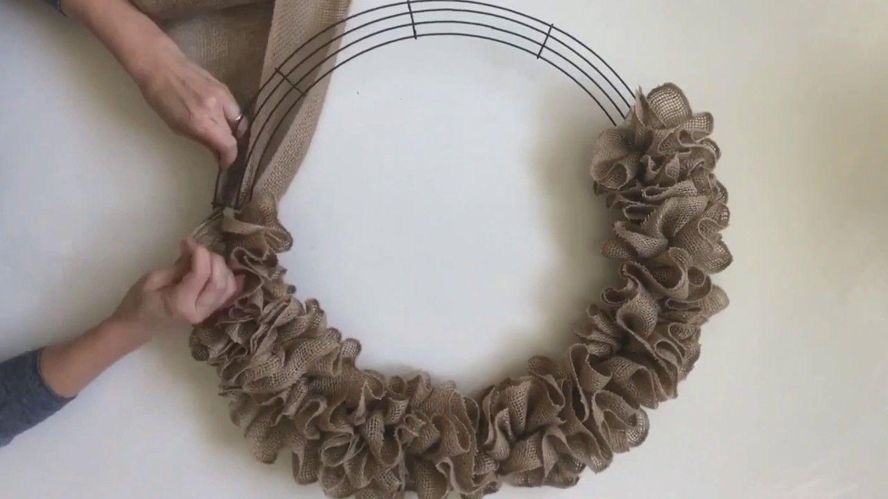 Photo of Simple DIY ruffle burlap wreath
