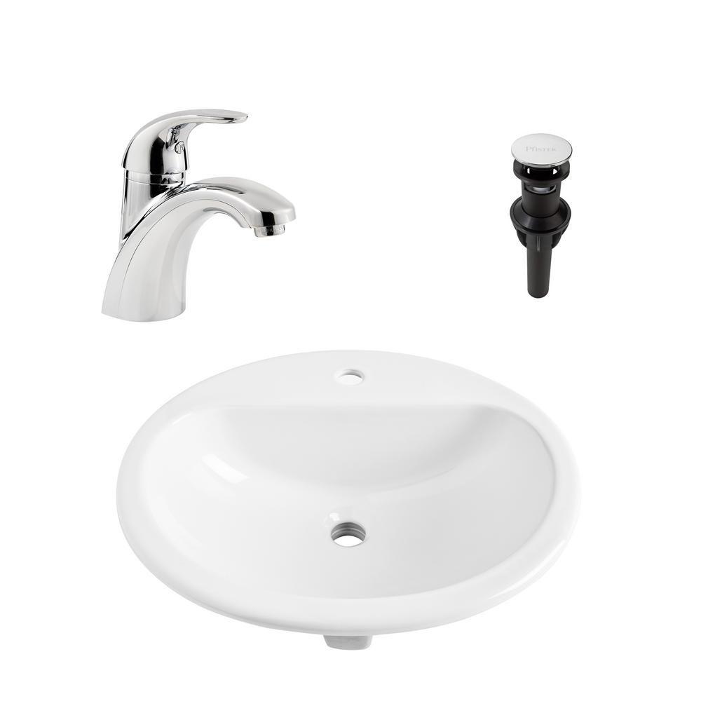 Sinkology Rene All In One Drop In Vitreous China 20 6 In Bathroom