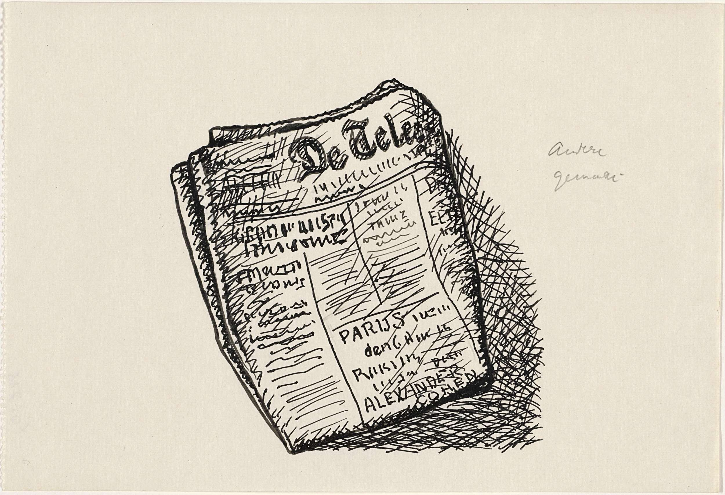 Leo Gestel | Ontwerp boekillustratie voor Alexander Cohen's Van Anarchie tot Monarchie: De Telegraaf, Leo Gestel, 1891 - 1941 |
