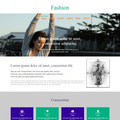 Fashion, Responsive, 2 Column Web Template... | Templates ...