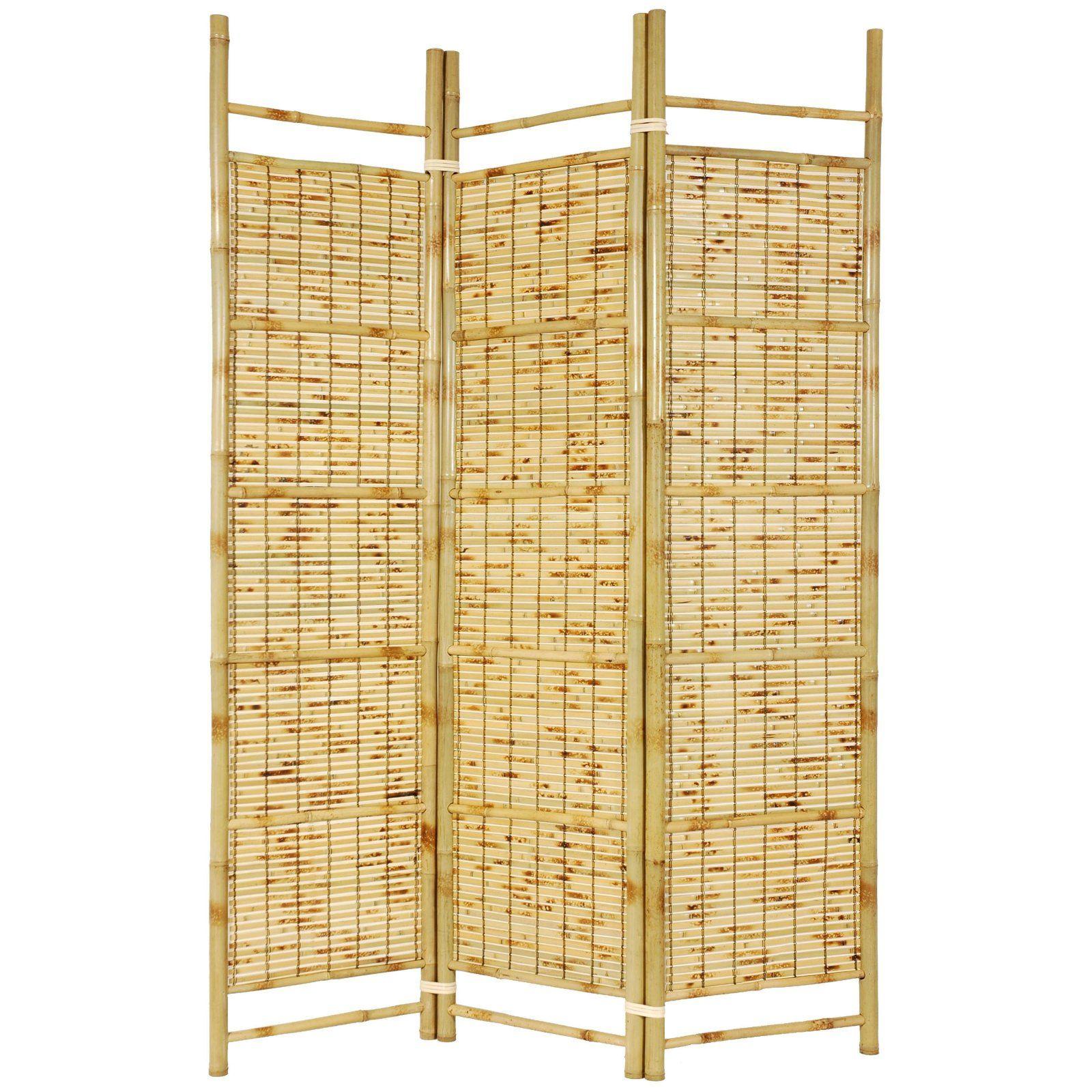 Oriental Furniture Burnt Bamboo Room Divider | Bamboo Furniture ...