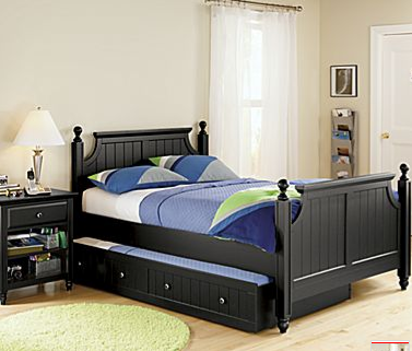 trundle bed double or queen with a single under either