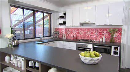 Kitchen Makeover   Wallpaper Splashback   Part 1