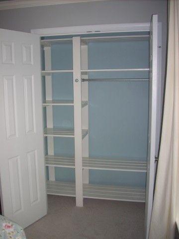 Inexpensive Diy Closet Shelving Slatted Shelves So Clothes