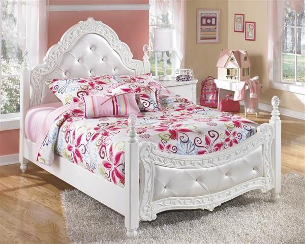 Ashley Furniture Exquisite Luminous White Full Poster Bed | White ...