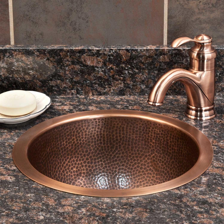 14 Baina Extra Deep Round Hammered Copper Sink Copper Sink Hammered Copper Sink Bathroom Hammered Copper Sink