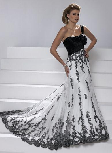 Belle Robe de mariée avec bretelle unique