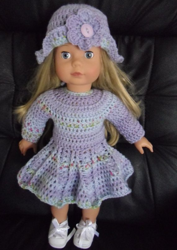 PDF Crochet pattern for dress and hat for 18 inch by petitedolls ...